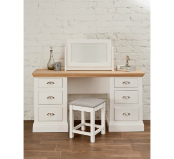 Double pedestal dressing table COL850 with drawers