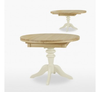 Round extending single pedestal table COL105