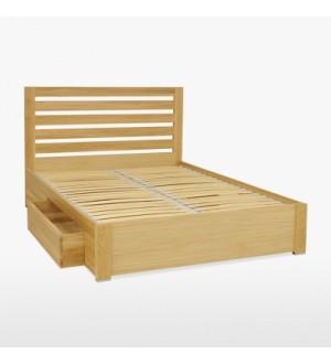 Vienvietīgā gulta ar atvilktnēm sānos MER830