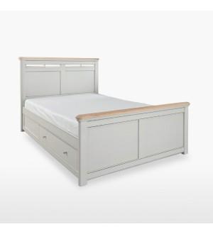 Divvietīgā gulta ar 2 atvilktnēm veļas glabāšanai CRO806