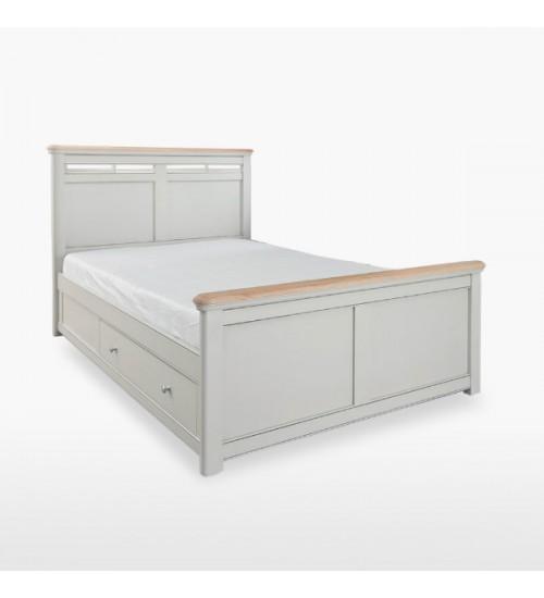 Divvietīgā gulta ar atvilktnēm veļas glabāšanai CRO808