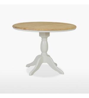 Round extending single pedestal table CRO108